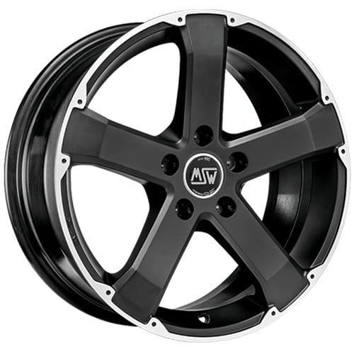 msw urban cross msw 45 matt black full polished